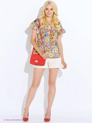 Блуза Oky Coky. Цвет: красный, желтый