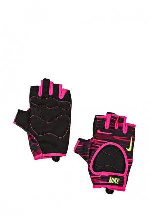 Перчатки для фитнеса Nike. Цвет: разноцветный