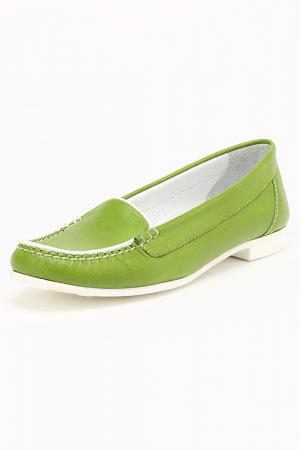 Мокасины Etor. Цвет: зеленый
