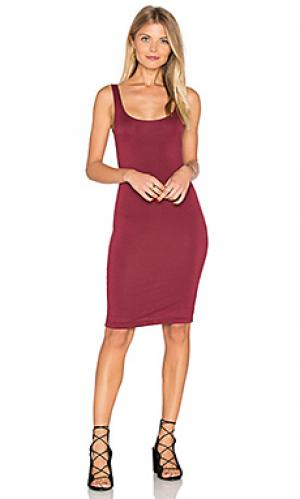 Миди платье с разрезом на лифе сзади BLQ BASIQ. Цвет: вишня