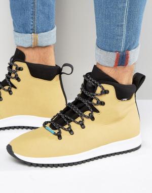 Native Ботинки на шнуровке AP Apex. Цвет: рыжий