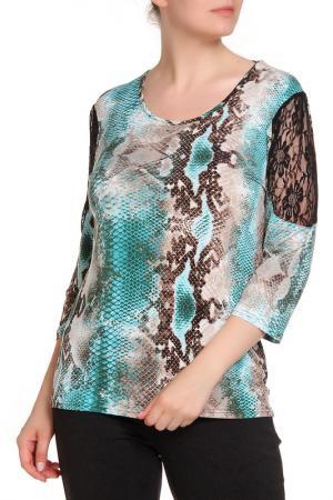 Блуза RITA PFEFFINGER. Цвет: голубой