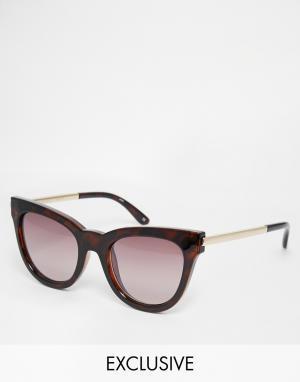 Le Specs Солнцезащитные очки кошачий глаз Exclusive Debutante. Цвет: коричневый