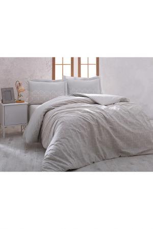 Комплект постельного белья Marie claire. Цвет: grey and white