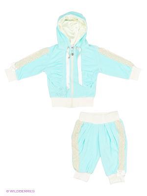 Велюровый костюм babyAngel. Цвет: бирюзовый