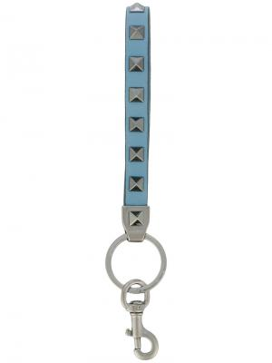 Брелок для ключей  Garavani Rockstud Valentino. Цвет: синий