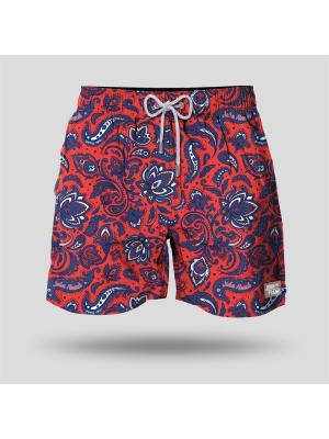 Шорты Пляжные JOHN FRANK. Цвет: красный, синий