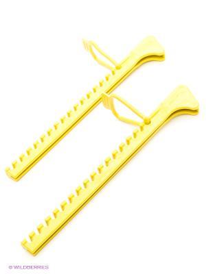 Чехлы для фигурных коньков Larsen. Цвет: желтый