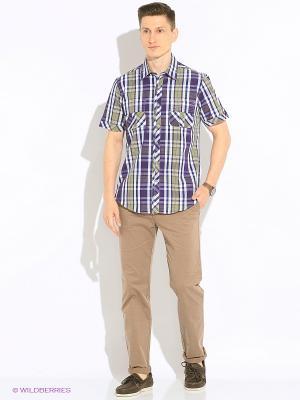 Рубашка KARFLORENS. Цвет: сиреневый, темно-зеленый