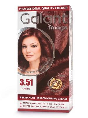Cтойкая крем-краска для волос  GALANT 3.51 черешня, 115 мл., (Болгария) Image. Цвет: кремовый