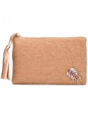 Embellished clutch Lisa C Bijoux. Цвет: розовый и фиолетовый