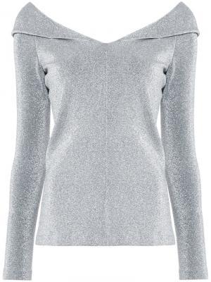 Блузка с металлическим отблеском Rosetta Getty. Цвет: металлический