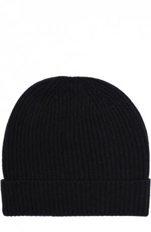 Кашемировая шапка с отворотом malo. Цвет: темно-синий
