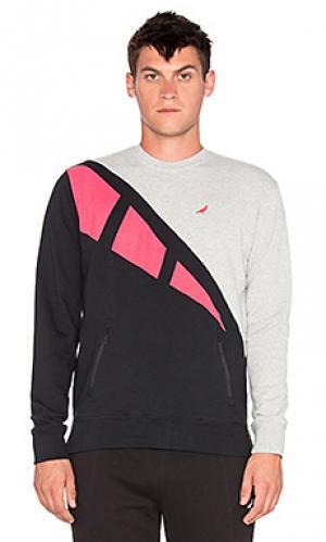 Пуловер retro Staple. Цвет: серый
