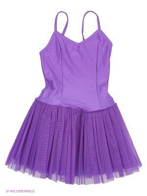 Купальник спортивный для танцев Arina Ballerina. Цвет: фиолетовый