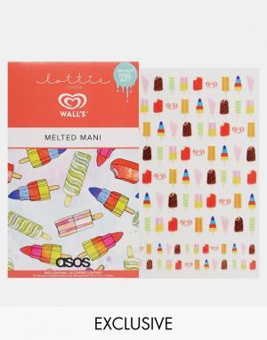 Lottie Наклейки для ногтей & Walls эксклюзивно ASOS. Цвет: lolly