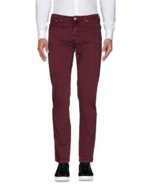Повседневные брюки B SETTECENTO. Цвет: красно-коричневый