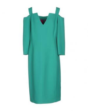 Платье до колена IVAN MONTESI. Цвет: зеленый