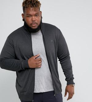 Duke Темно-серая трикотажная спортивная куртка PLUS. Цвет: серый