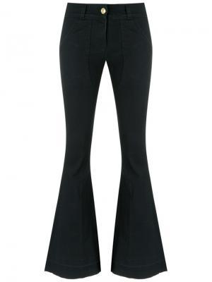 Расклешенные джинсовые брюки Andrea Bogosian. Цвет: чёрный
