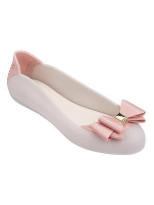 Балетки Melissa. Цвет: белый, бледно-розовый