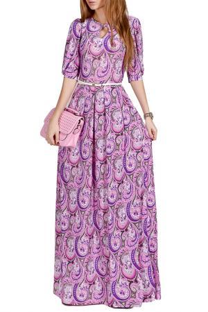 Длинной платье с принтом FRANCESCA LUCINI. Цвет: розовый