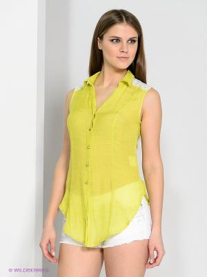Блузка CONVER. Цвет: желтый