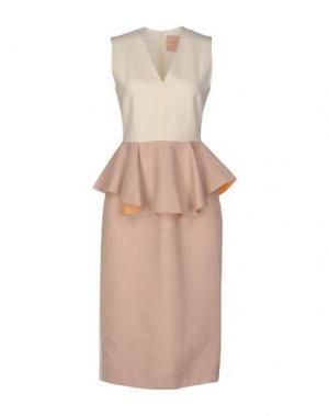 Платье длиной 3/4 ROKSANDA. Цвет: телесный