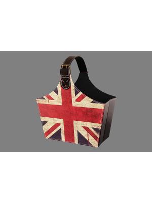 Газетница складная Британский флаг EL CASA. Цвет: синий, коричневый, бежевый, красный