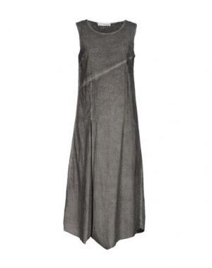 Платье длиной 3/4 UN-NAMABLE. Цвет: свинцово-серый
