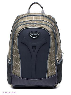 Рюкзак Polar. Цвет: серый, зеленый