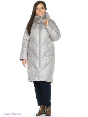 Пальто стеганное FREYA. Цвет: светло-серый