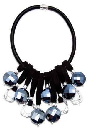 Колье Boho Chic. Цвет: черный, синий, серебряный