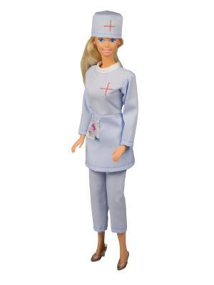 Костюм медсестры для куклы 29 см Модница.. Цвет: голубой