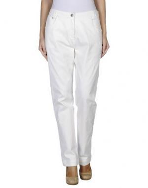 Джинсовые брюки LUIS CIVIT. Цвет: слоновая кость