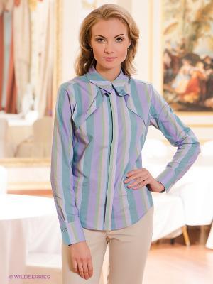 Блузка Satin. Цвет: серо-голубой, сиреневый, зеленый
