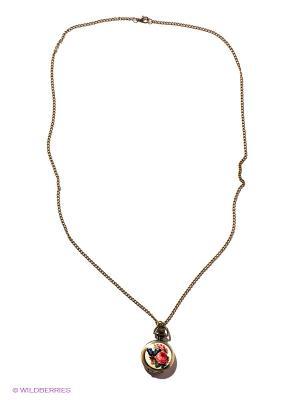 Кулон-часы Бабочка в розах Mitya Veselkov. Цвет: бронзовый, белый, розовый, синий