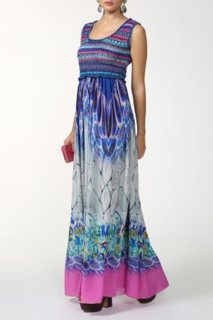 Длинное приталенное платье в пол Alberta Ferretti. Цвет: цветной