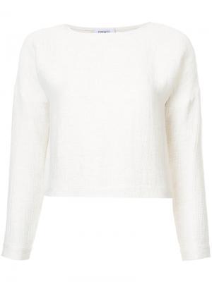 Плиссированная блузка Nomia. Цвет: телесный