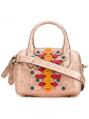 Маленькая сумка Vere Anya Hindmarch. Цвет: розовый и фиолетовый