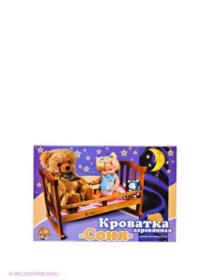 Кроватка деревянная Соня Десятое королевство. Цвет: светло-бежевый