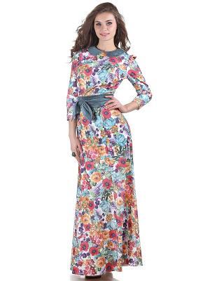 Платье OLIVEGREY. Цвет: голубой, красный, фиолетовый