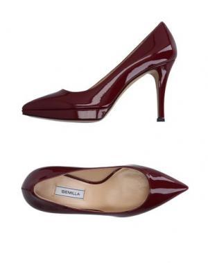 Туфли SEMILLA. Цвет: красно-коричневый