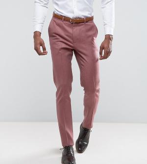 ASOS Розовые зауженные строгие брюки из 100% мериносовой шерсти TALL W. Цвет: розовый