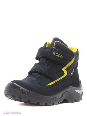 Ботинки ECCO. Цвет: желтый, синий