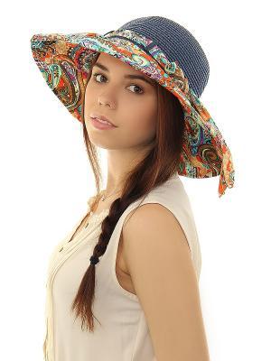 Шляпа Migura. Цвет: синий, бирюзовый, оранжевый