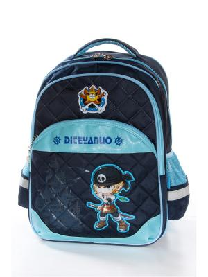 Рюкзак Vittorio Richi. Цвет: темно-синий, голубой