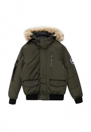 Куртка утепленная Kamora. Цвет: зеленый