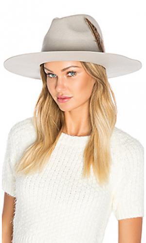 Шляпа федора crossroads Brixton. Цвет: светло-серый
