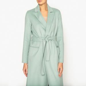 Пальто длинное в стиле халата DUFFY BERENICE. Цвет: зелено-синий